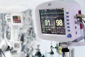 Picture of medical monitors inside the ICU
