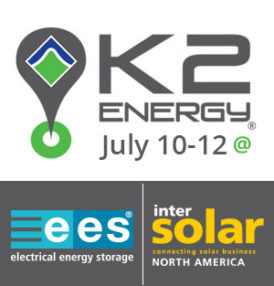 K2 Energy Solutions will be exhibiting at the EES North America and Intersolar trade show