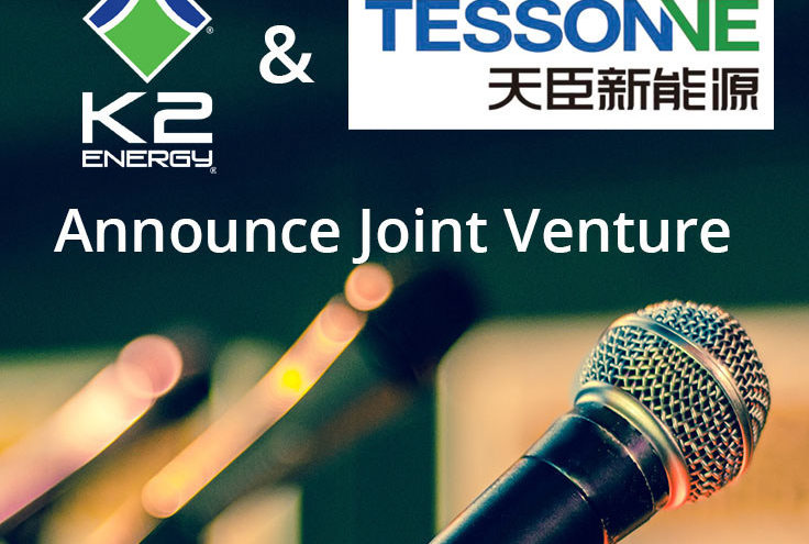Global Growth Motivates K2 Energy's Joint Venture Agreement with Tesson New Energy for Expanding Battery Energy Storage Evolution